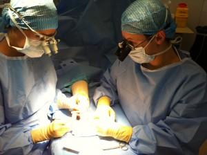 chirurgie de la main sous microchirurgie
